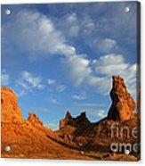 Trona Pinnacles Golden Hour Acrylic Print