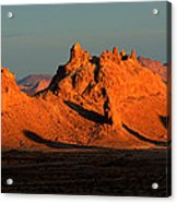 Trona Pinnacles Panorama Acrylic Print by Bob Christopher