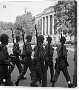 Troops At The University Of Alabama Acrylic Print by Everett