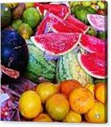Tropical Colouring Acrylic Print