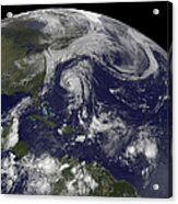 Tropical Cyclones Katia, Lee, Maria Acrylic Print