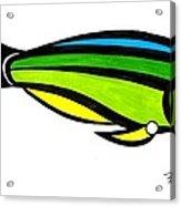 Tropical Fish Fantasy In Color  Acrylic Print