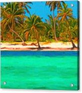 Tropical Island 5 - Painterly Acrylic Print