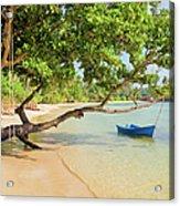 Tropical Island Scenery Acrylic Print