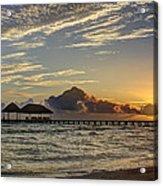 Tropical Ocean Sunset Acrylic Print