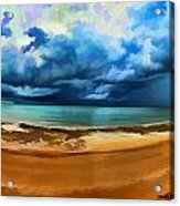 Tropical Seasonal Monsoon Rain V2 Acrylic Print