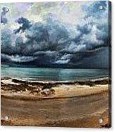 Tropical Seasonal Monsoon Rain V3 Acrylic Print