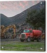 Truck And Tractors In Hdr Acrylic Print
