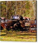 Truck Graveyard Acrylic Print