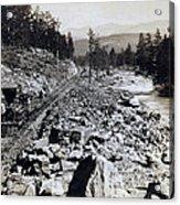 Truckee River - California - C 1865 Acrylic Print