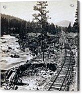 Truckee River - California Looking Toward Donner Lake - C 1865 Acrylic Print