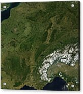 True-color Satellite View Of France Acrylic Print