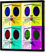 Truly Nolen Rat In Quad Colors Acrylic Print