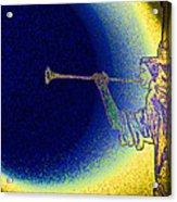 Trumpet Moon Acrylic Print