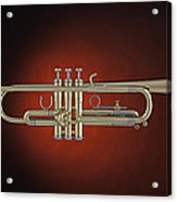 Trumpet Red Spotlight  Acrylic Print