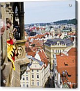 Trumpeter - Prague Old Town Square Acrylic Print