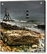 Trwyn Du Lighthouse Acrylic Print