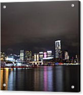 Tsim Sha Tsui - Kowloon At Night Acrylic Print by Enrique Rueda