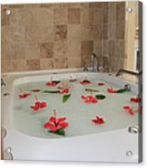 Tub Of Hibiscus Acrylic Print