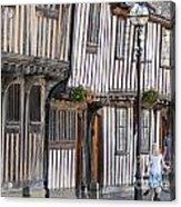Tudor Houses Acrylic Print by Andrew  Michael