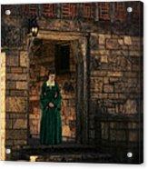 Tudor Lady In Doorway Acrylic Print