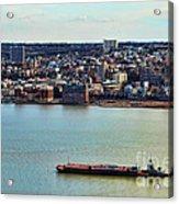 Tugboat On The Hudson Acrylic Print
