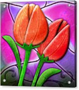 Tulip Glass Acrylic Print by Melisa Meyers