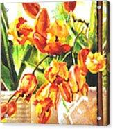 Tulipes A La Fenetre Acrylic Print