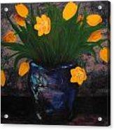 Tulips In Blue Acrylic Print