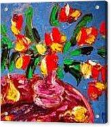 Tulips Vase Acrylic Print
