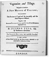 Tull: Title Page, 1762 Acrylic Print by Granger