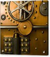Tumbler Bank Vault Door Acrylic Print by Adam Crowley