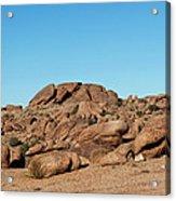 Tumbling Rocks Of Gold Butte Acrylic Print