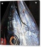 Tuna Head At Fish Market Acrylic Print
