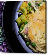 Tuna Noodle Casserole Acrylic Print by Andee Design