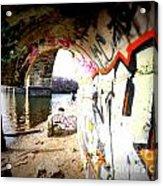Tunnel Bridge River Fish Acrylic Print