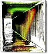 Tunnel Of Colour Acrylic Print