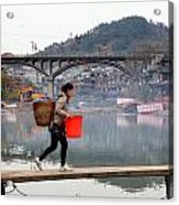 Tuojiang River In Fenghuang Acrylic Print