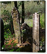 Turkish Cemetery In Rural Mugla Province Acrylic Print