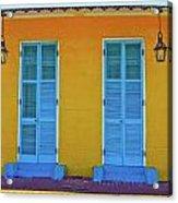 Turquoise And Yellow Acrylic Print