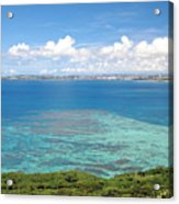Turquoise Blue Ocean Acrylic Print