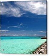 Turquoise Blue Sea Acrylic Print