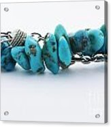 Turquoise Stones And Silver Chain Acrylic Print