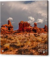 Turret Arch And Storm Clouds Acrylic Print