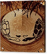 Turtles Love Digital Artwork Acrylic Print