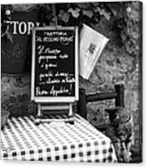 Tuscan Cafe Diner Acrylic Print by Andrew Soundarajan