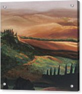 Tuscan Hills Acrylic Print