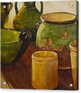 Tuscan Vases And Pots Acrylic Print