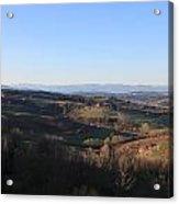 Tuscany Valleys At Sunset Acrylic Print