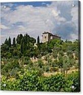 Tuscany Villa In Tuscany Italy Acrylic Print by Ulrich Schade
